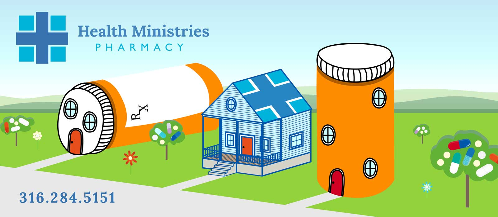 Health Ministries pharmacy banner artwork