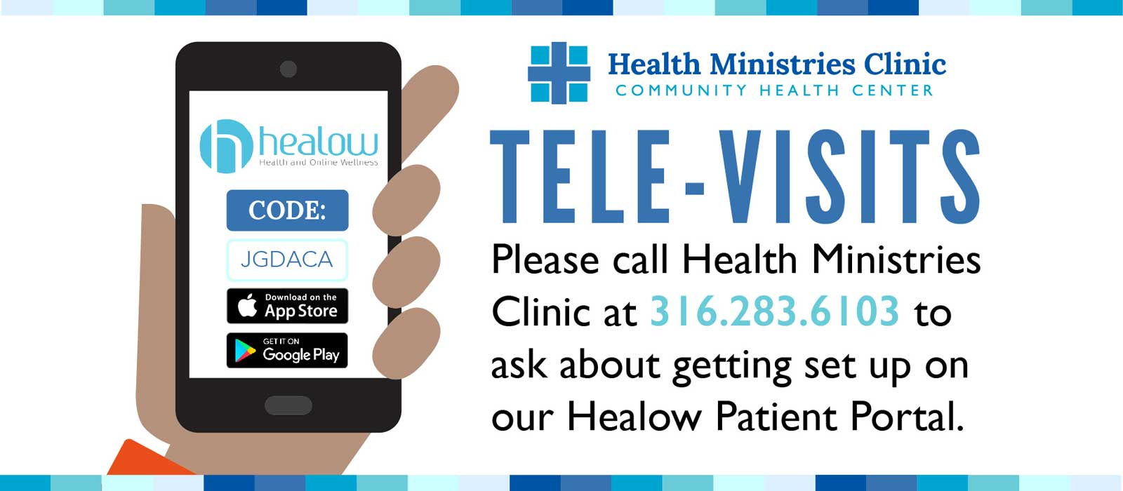 Call HMC to get set up for tele-visits